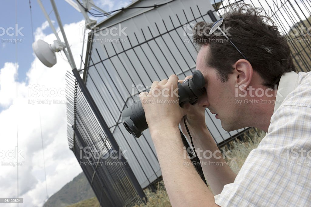 Planner of radio relay link royalty-free stock photo