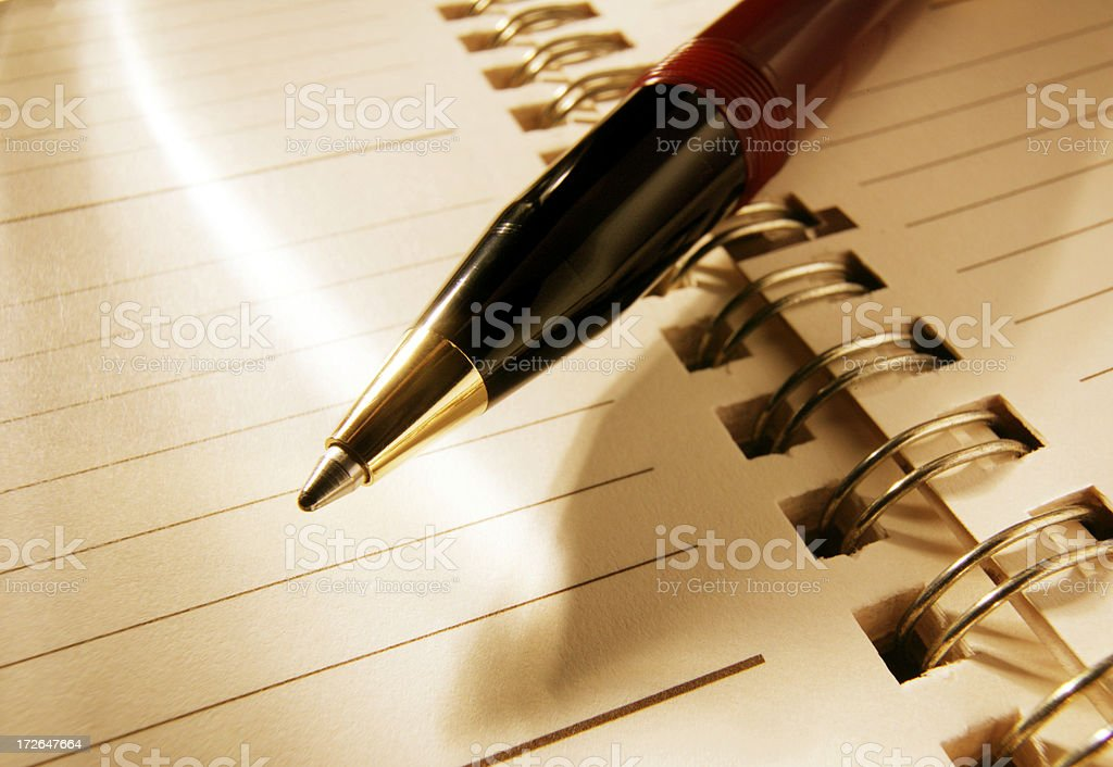 Planner & Pen royalty-free stock photo