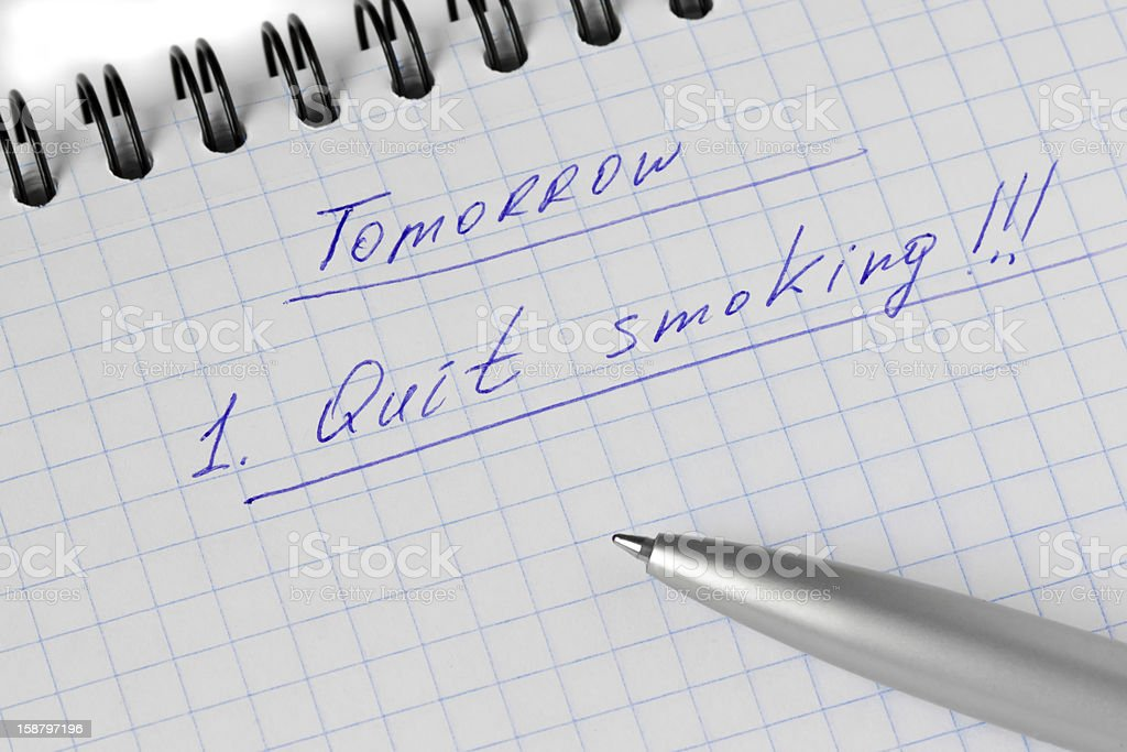 Plannig the quit smoking royalty-free stock photo