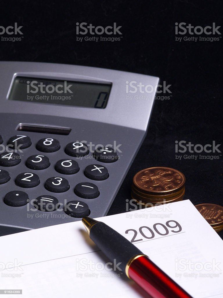 planning 2009 royalty-free stock photo