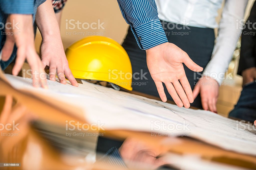 Planning a Building stock photo
