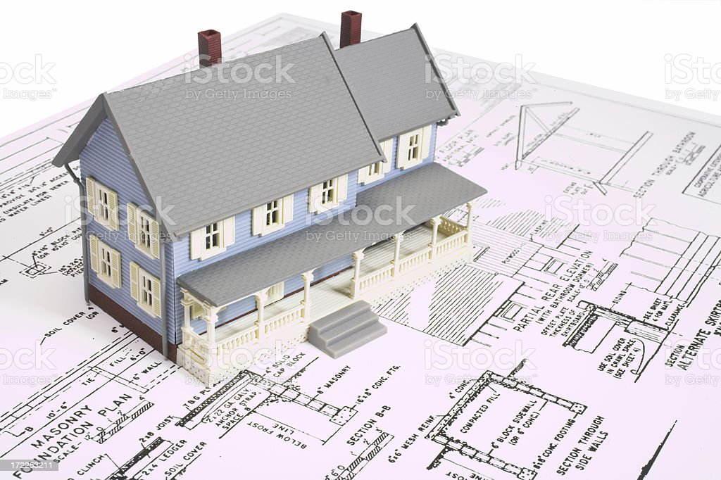 Planning a new home royalty-free stock photo