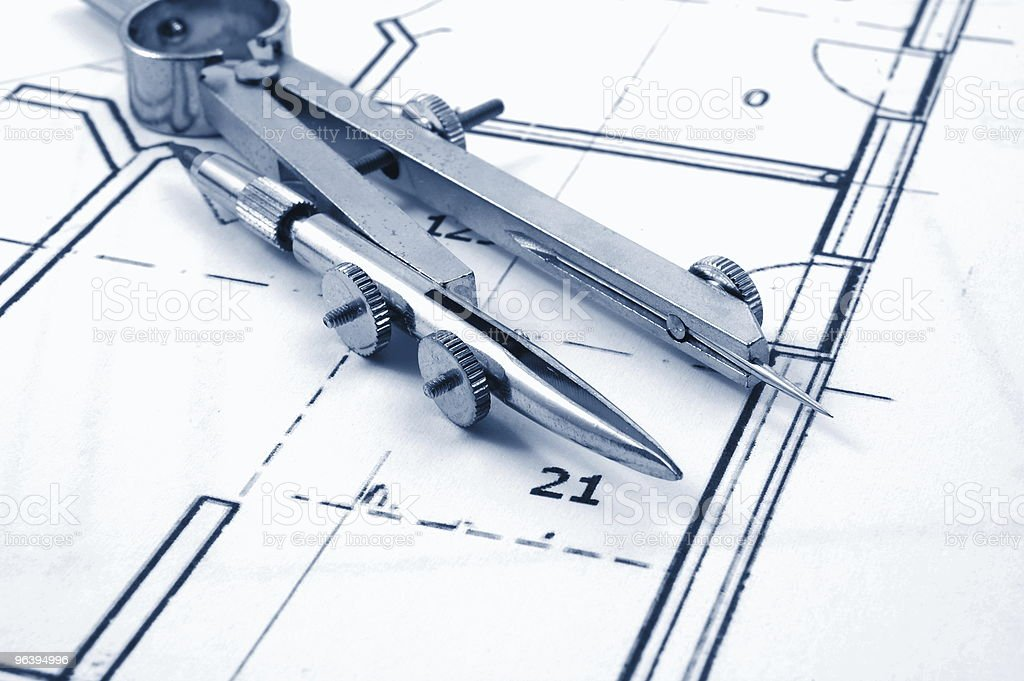 planning a now home - Royalty-free Blueprint Stock Photo