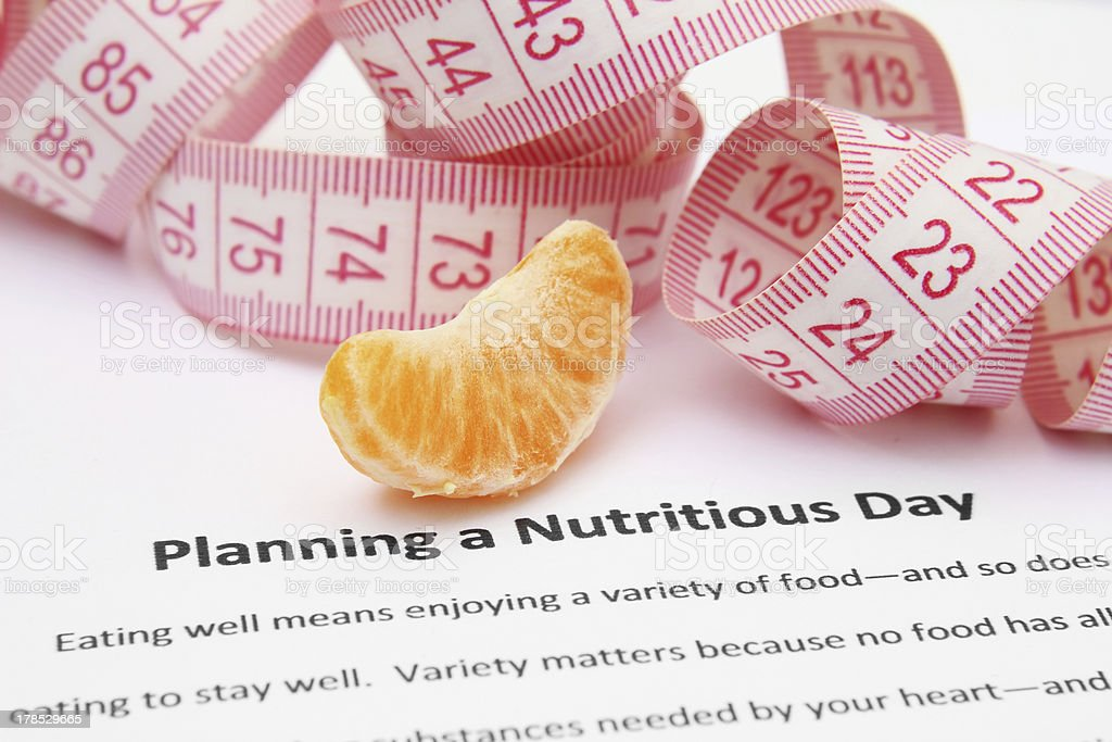 Planning a nutritious day royalty-free stock photo