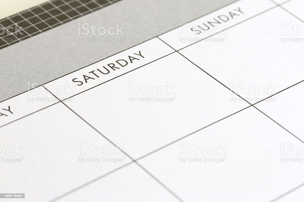 Planning A Weekend stock photo
