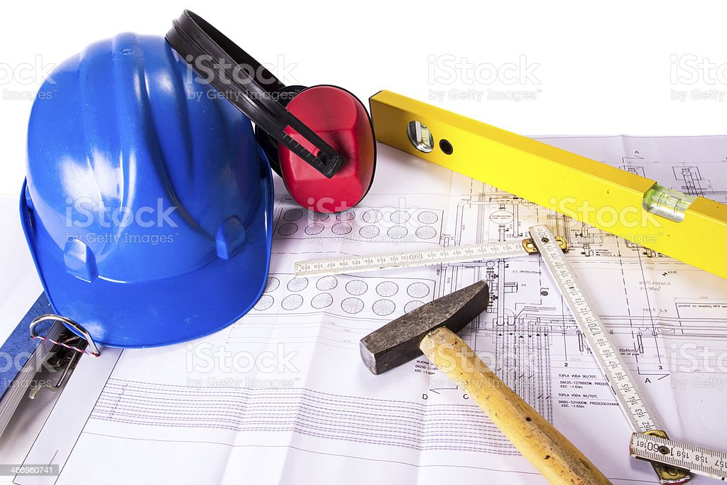 Planning and building royalty-free stock photo
