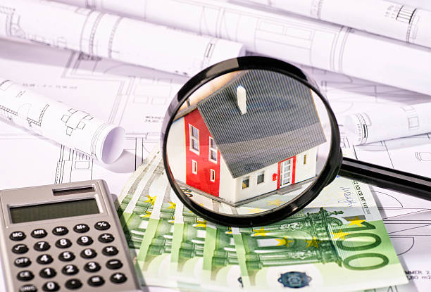 Planning and costs of a property stock photo