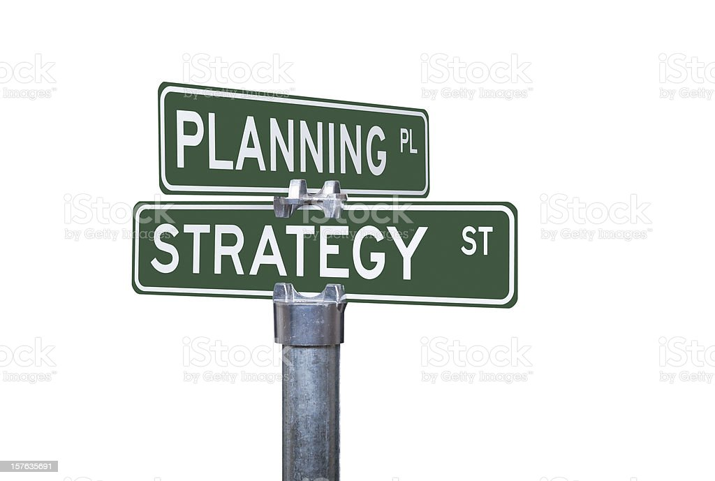 Planning and Strategy royalty-free stock photo
