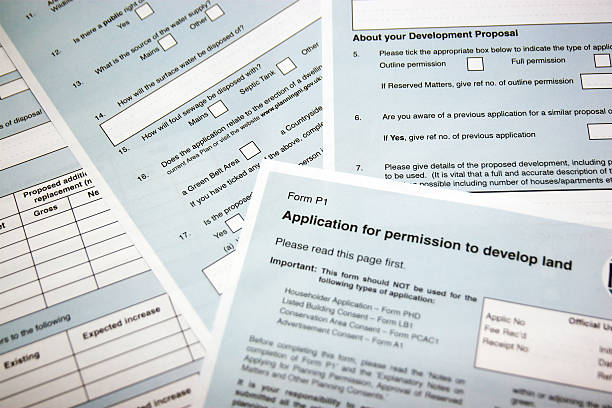 planning application - permit stock photos and pictures