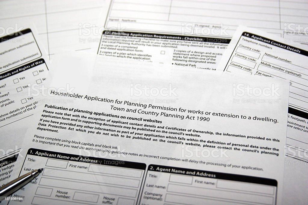 Planning application stock photo