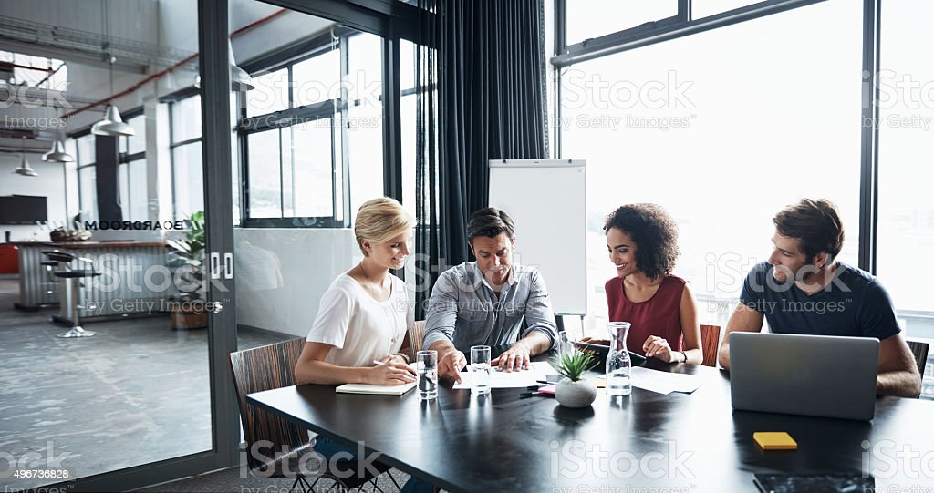 Planning as a team stock photo