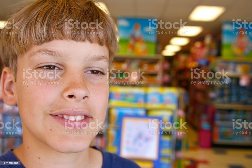 Planning at the Toy Store royalty-free stock photo
