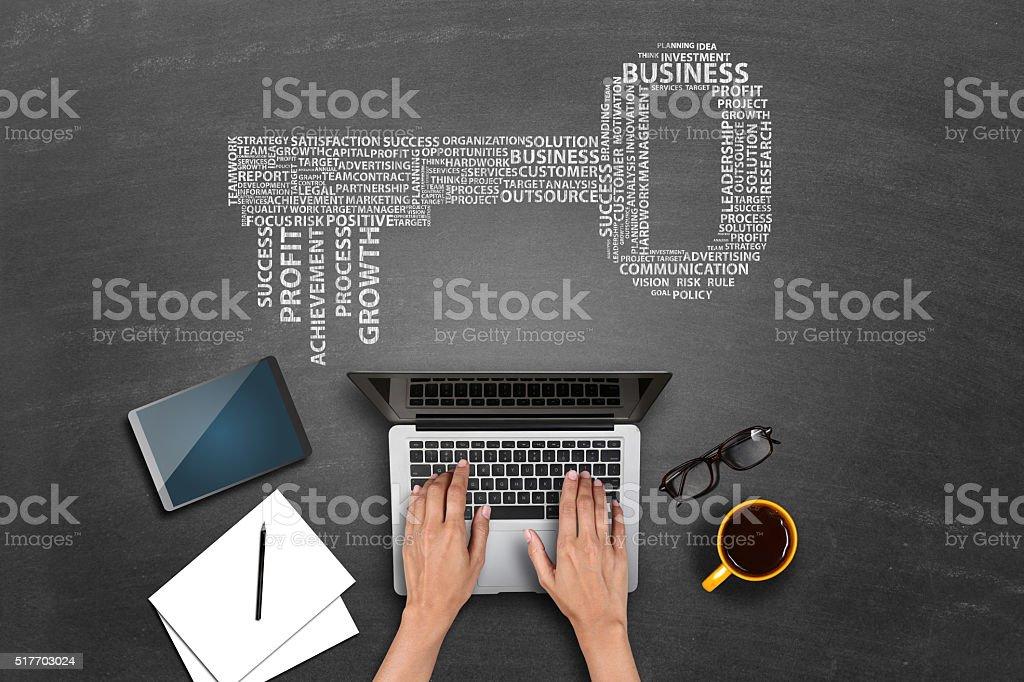 Concepto de estrategia de negocios de la planificación - foto de stock