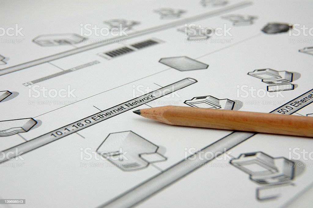 Planning - Computer Network royalty-free stock photo