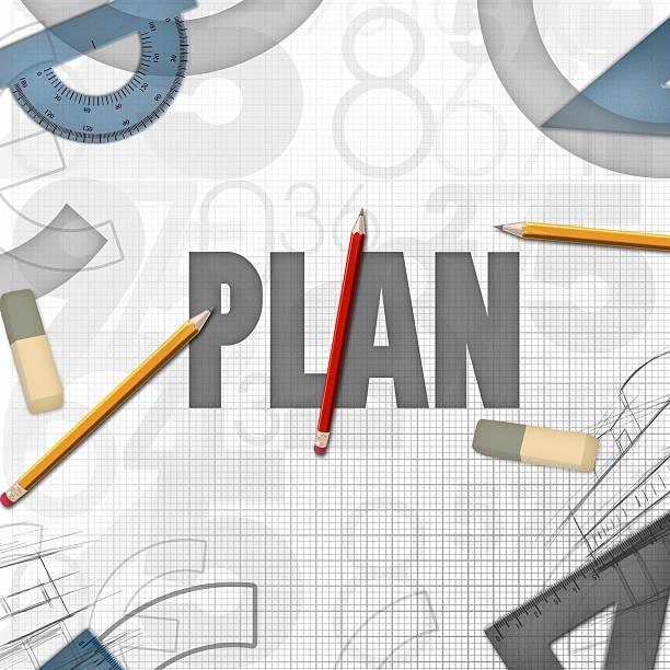 Konstrukcja Ilustracja koncepcja planowania – zdjęcie