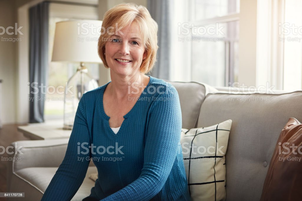 Planning for a comfortable retirement paid off stock photo