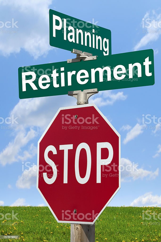 Planning for Retirement; Stop and Think! royalty-free stock photo
