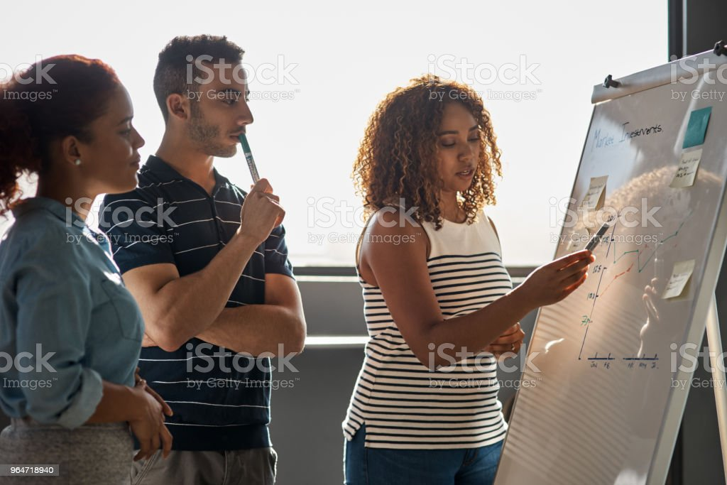 Planning for the success they aim to achieve royalty-free stock photo