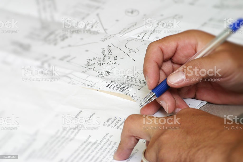 Planning hands royalty-free stock photo