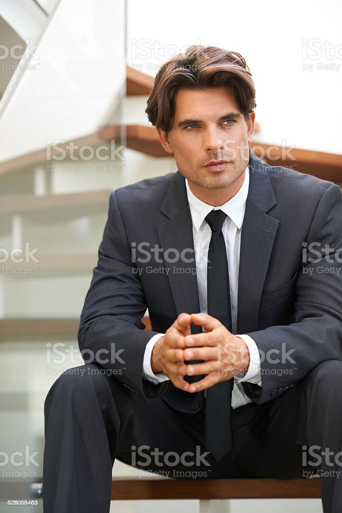 Planning his next business move stock photo