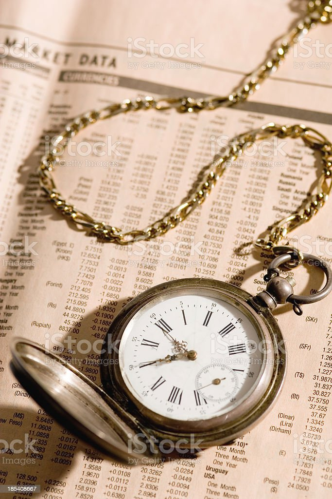 Planning investments royalty-free stock photo
