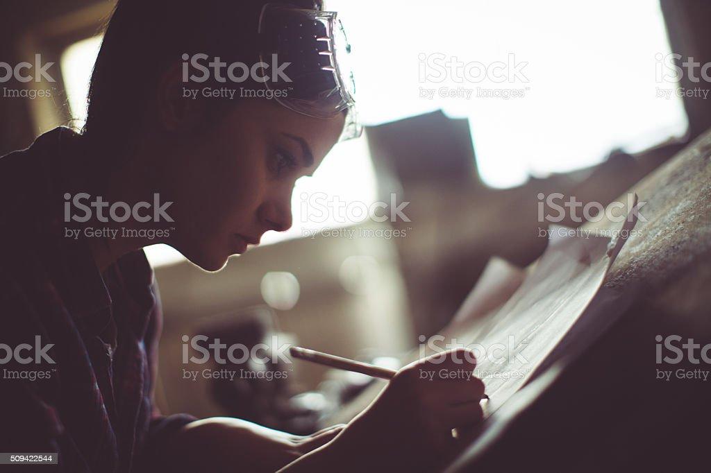 Der Planung der zukünftigen Projekte - Lizenzfrei Anstrengung Stock-Foto