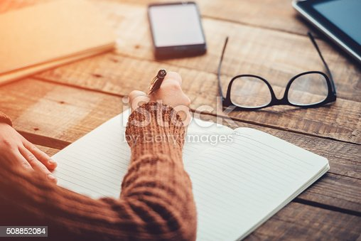 istock Planning new day. 508852084