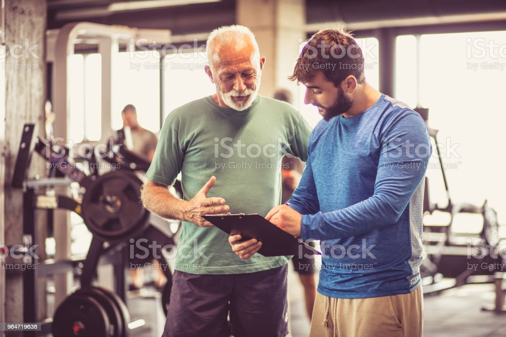 Planning next exercise. stock photo