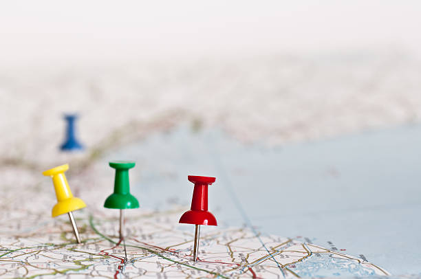 planning next travel destination - road map stock photos and pictures