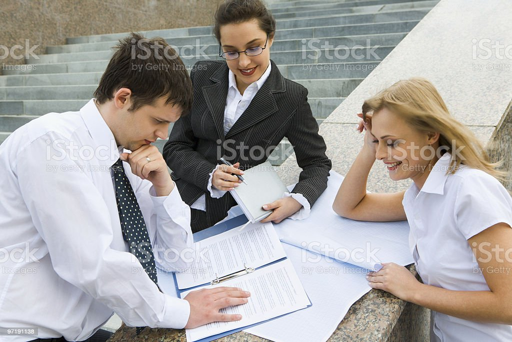 Planning of the business strategy royalty-free stock photo