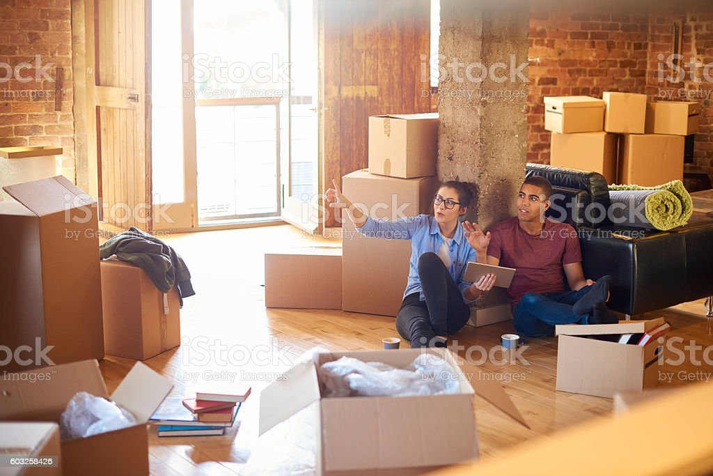 planning our loft living stock photo