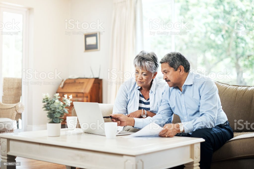 Planning our retirement together stock photo