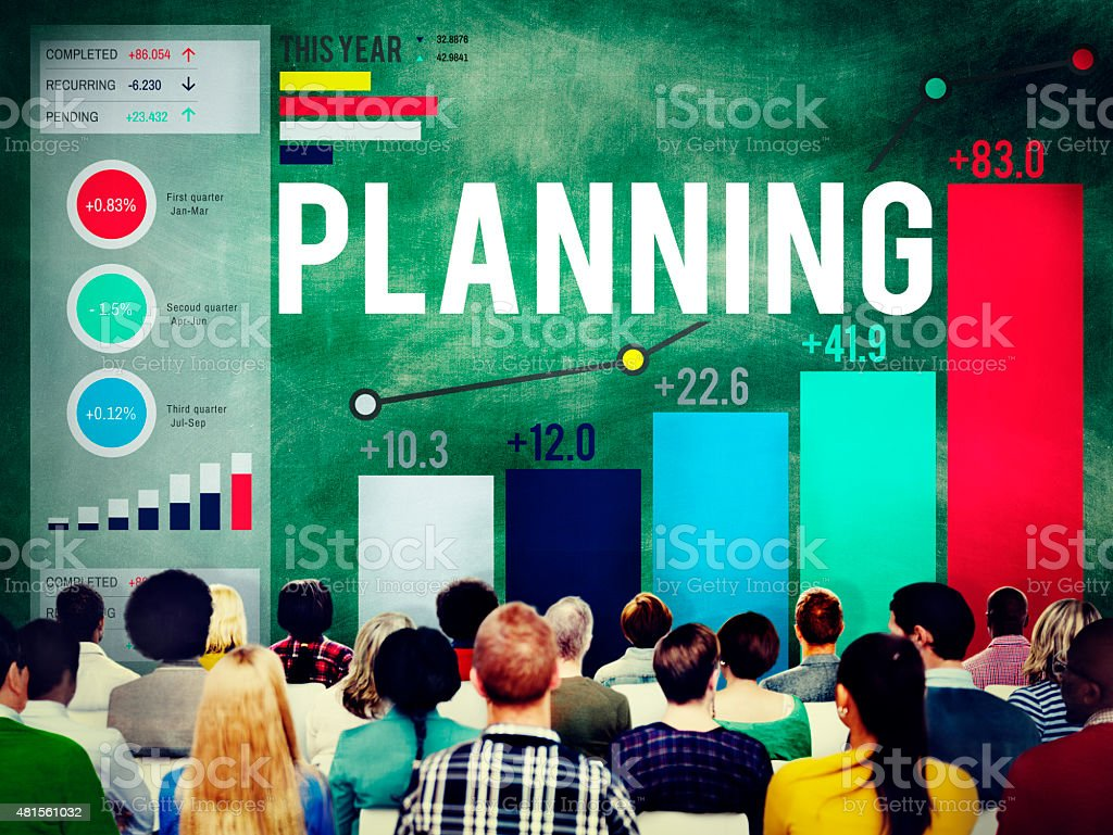 Planning Plan Ideas Guidelines Mission Strategy Concept stock photo
