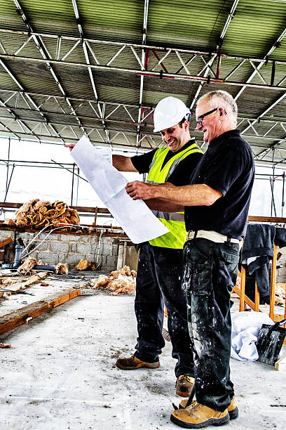 planning the build - project manager stock photos and pictures