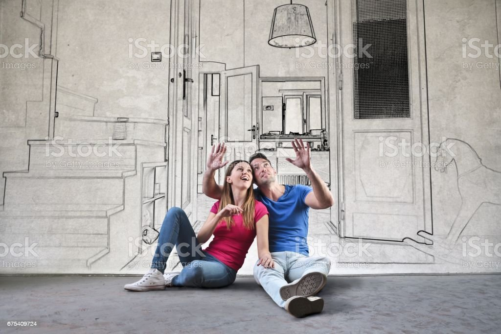 Planning the dream home stock photo