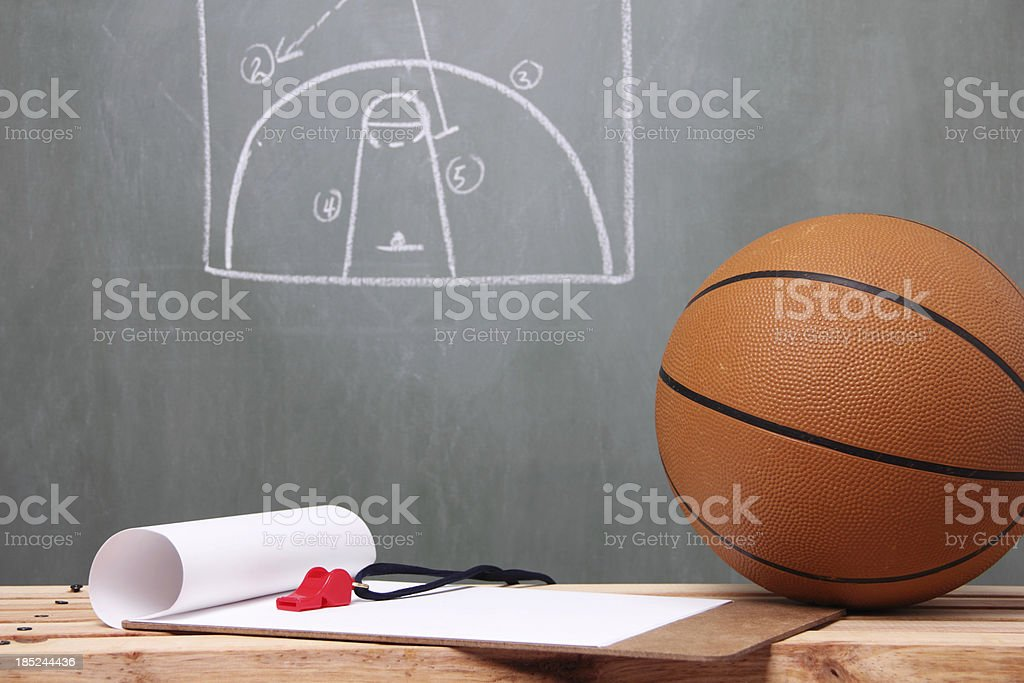 Planning The Game stock photo