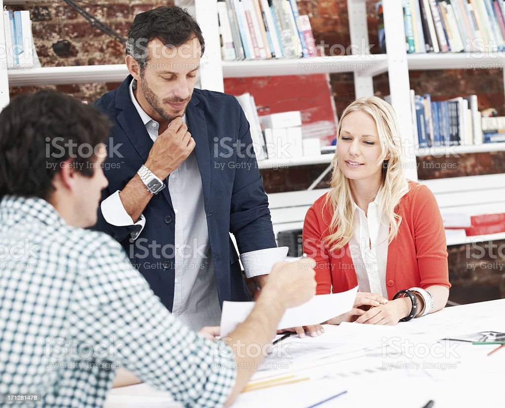 Planning the homes of tomorrow stock photo