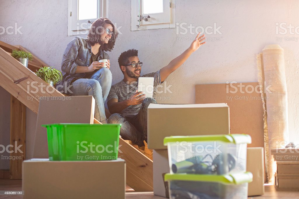 Planning the new home stock photo
