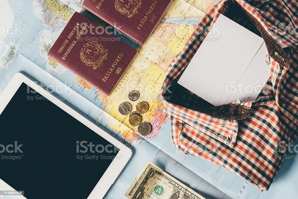 Planning The Next Trip stock photo