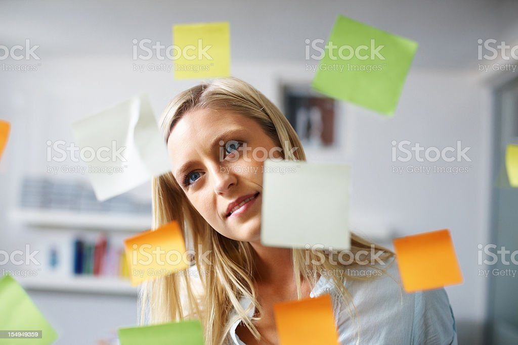 Planning the schedule royalty-free stock photo