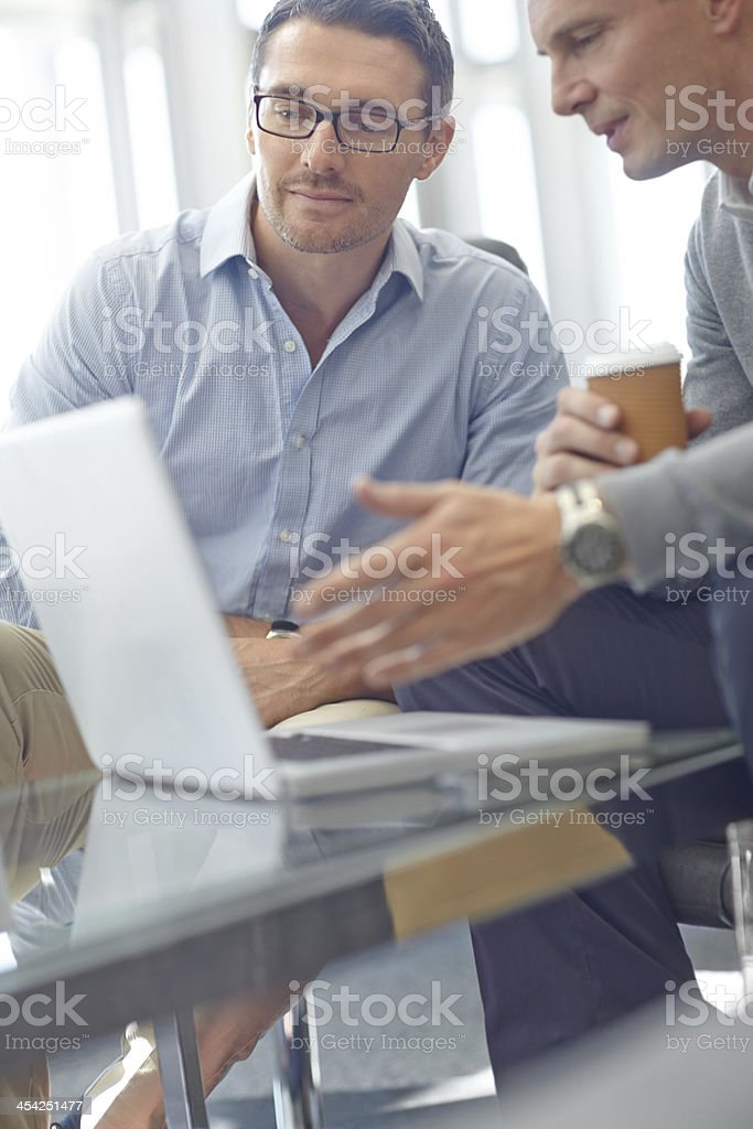 Planning their future business endeavours royalty-free stock photo