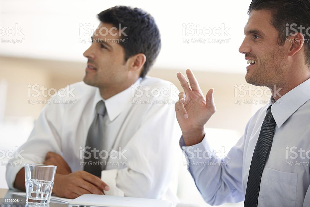 Planning their next venture royalty-free stock photo