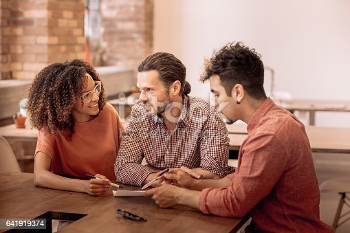 istock Planning with financial advisor 641919374