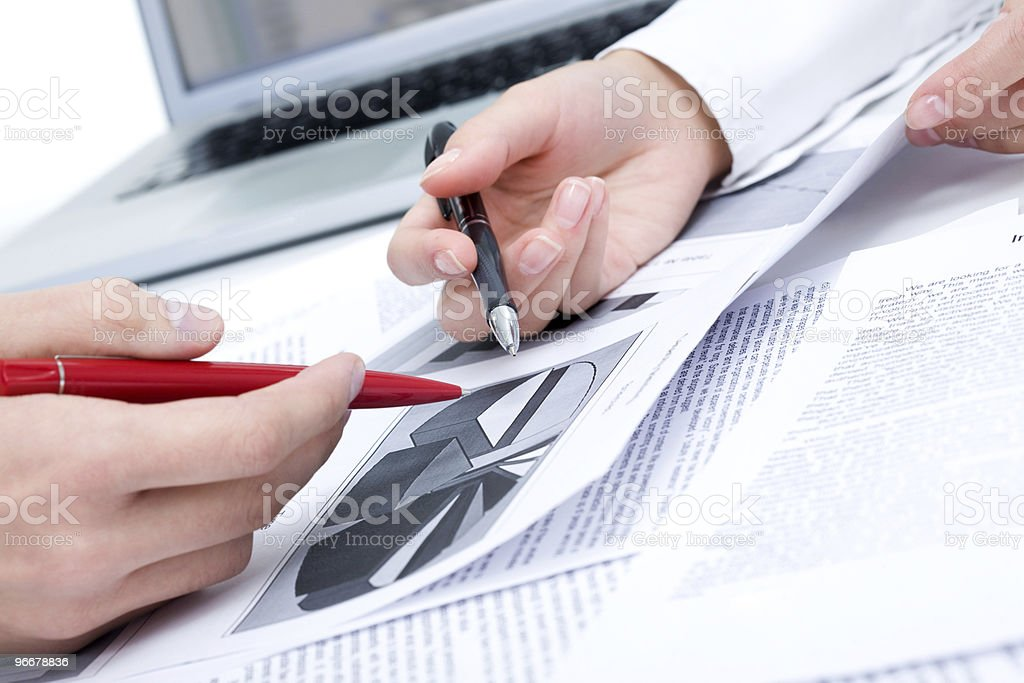 Planning work royalty-free stock photo