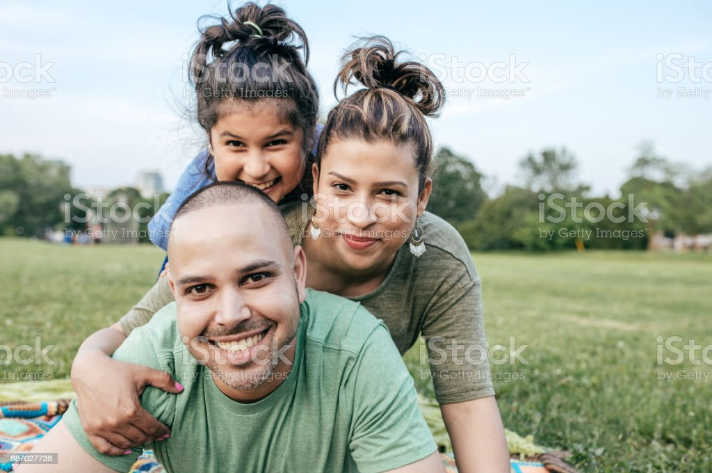 Planning your family vacation stock photo