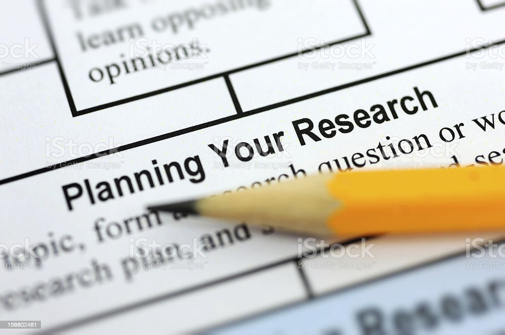 Planning Your Research royalty-free stock photo