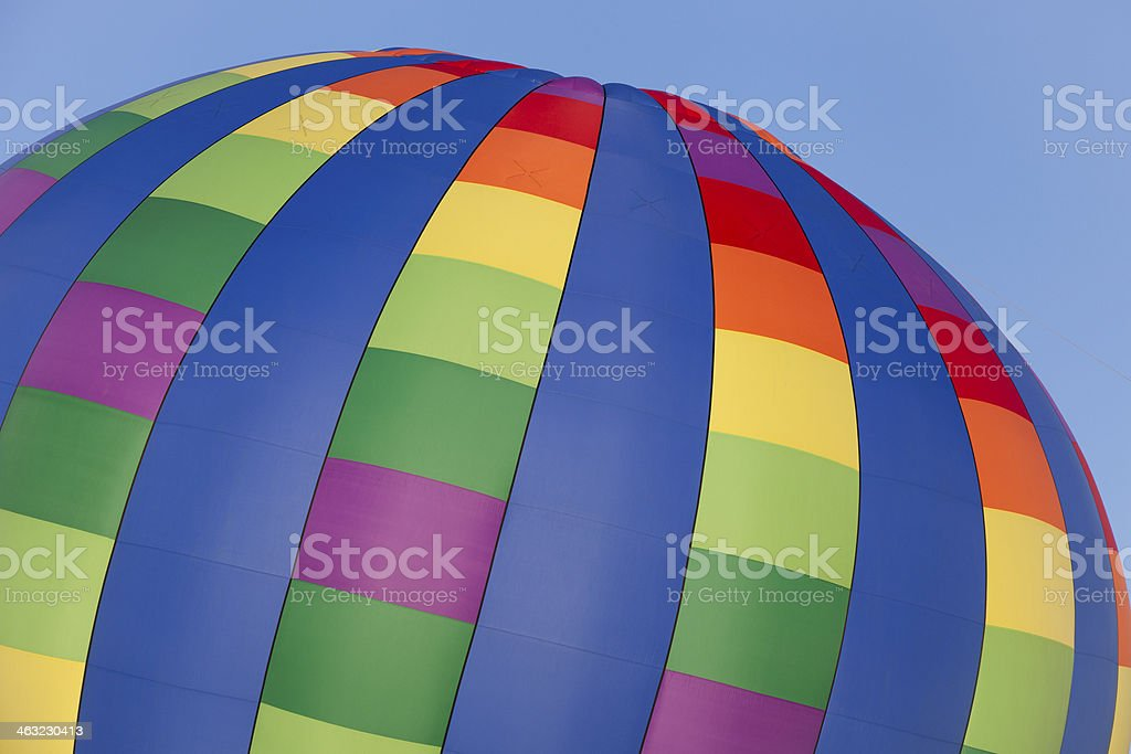 Plano hot air balloon royalty-free stock photo