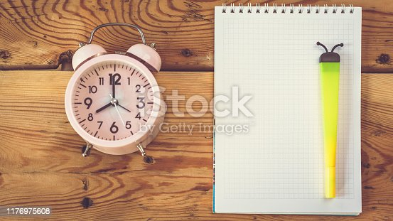 istock Plans for new day. Start new life. New life or day resolutions. To-do list 1176975608