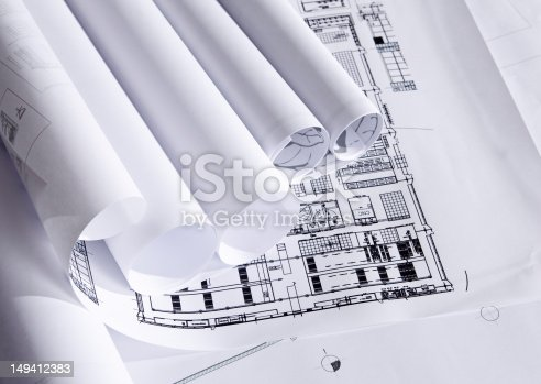 623909418 istock photo Plans of architecture 149412383