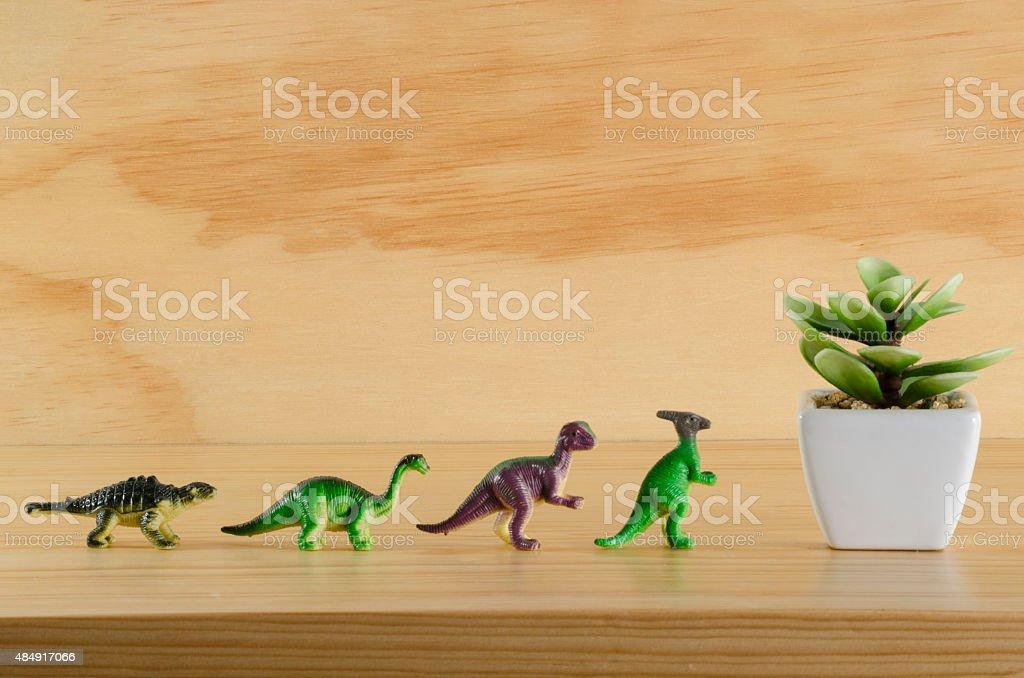 Plantas e dinossauros - foto de acervo